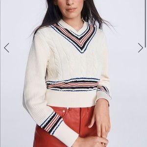 Rag & Bone Dale V-neck Varsity Sweater
